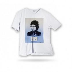 T-shirt microfibre col V