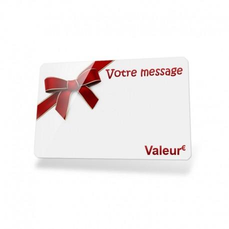 "Carte cadeau personnalisée ""Ruban rouge""Carte cadeau personnalisée ""Ruban rouge"""