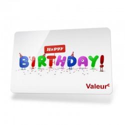 """Carte cadeau """"Happy Birthday"""""""